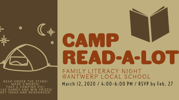 Antwerp Elementary Presents Camp Read-a-Lot