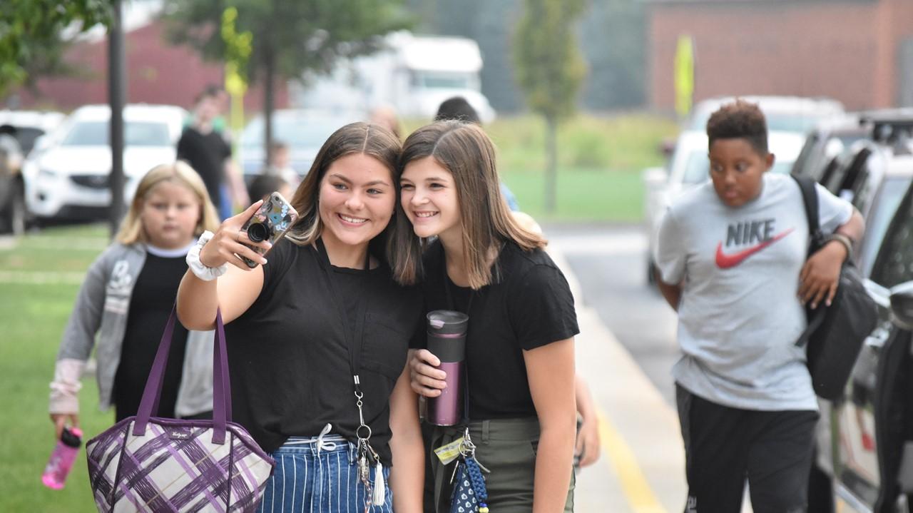 First day of school selfie