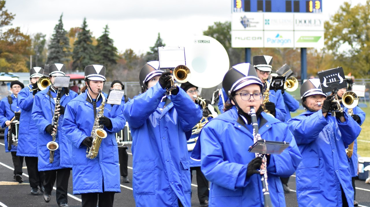 marching band during homecoming