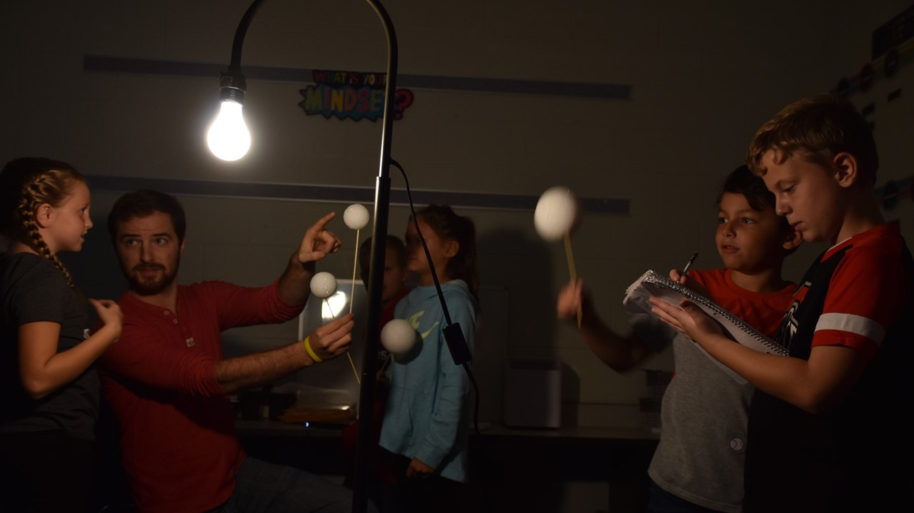 Mr. Eklund's third grade students learning about moon phases