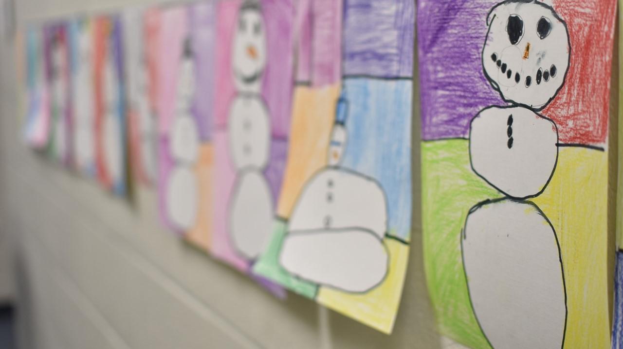 student snowman artwork